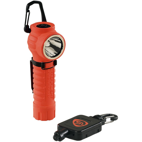 Streamlight PolyTac 90 with Gear Keeper (Orange, Clamshell Packaging)