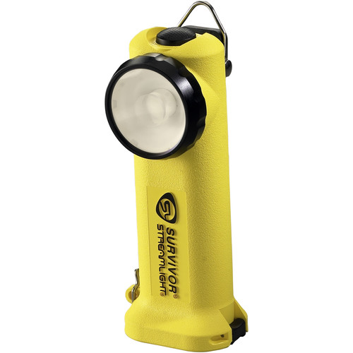 Streamlight Survivor Right-Angle Rechargeable LED Flashlight with Fast-Charge 12 VDC Car Charger (Yellow)
