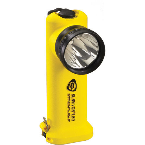 Streamlight Survivor Right-Angle Alkaline LED Flashlight with Four AA Battery Pack (Yellow,Clamshell Packaging)