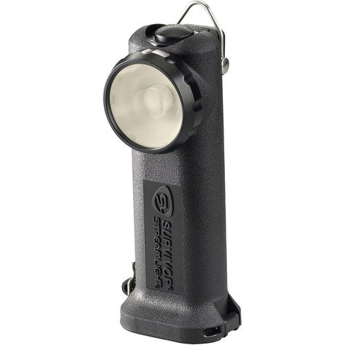 Streamlight Survivor Right-Angle Alkaline LED Flashlight with Four AA Battery Pack (Black, Clamshell Packaging)