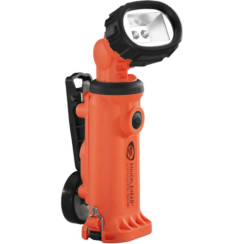 Streamlight Knucklehead Div. 2 Flood Rechargeable Worklight with 120/100 VAC / 12 VDC Charger (Orange)