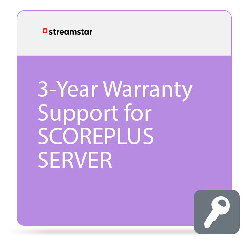 Streamstar 3-Year Warranty Support for SCOREPLUS SERVER