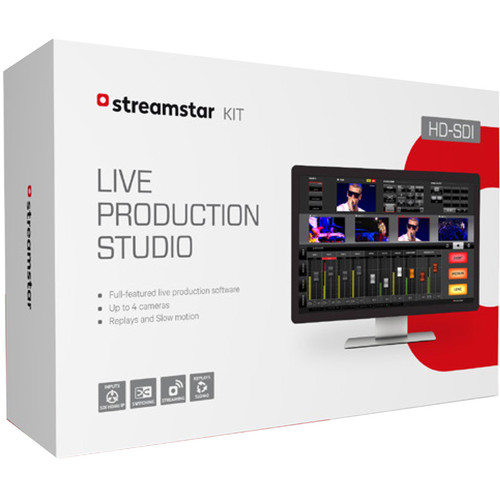 Streamstar KIT Live Production Studio Software with HD-SDI & HDMI Capture Cards