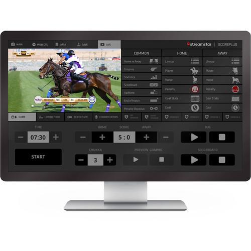 Streamstar Streamstar SCOREPLUS Horse Polo Professional Sports Graphics GUI License Module