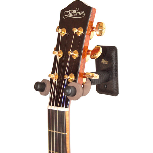 STRING SWING CC11W Metal Home and Studio Guitar Keeper Stand - Wide Body (Black)