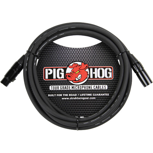 Pig Hog 8mm Mic Cable (10')