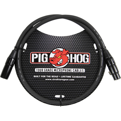 Pig Hog 8mm Mic Cable (3')