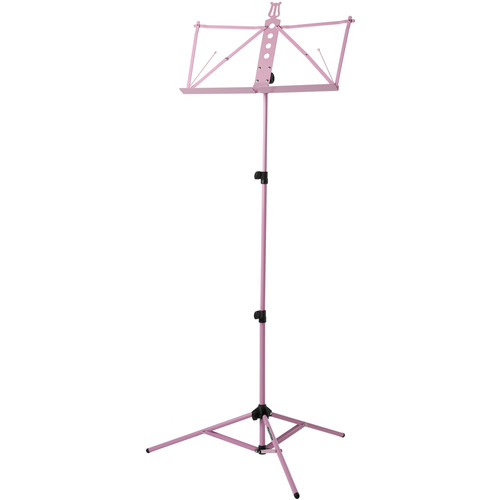Strukture Deluxe Aluminum Music Stand w/Adjustable Tray (Pink)