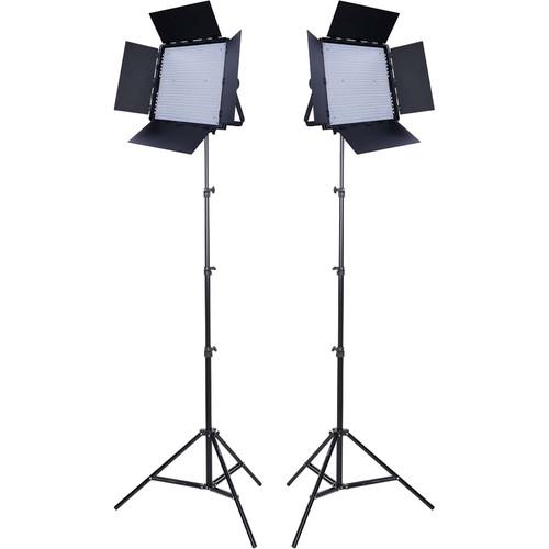 Studio Essentials 600 Bi-Color LED Panel 2-Light Kit