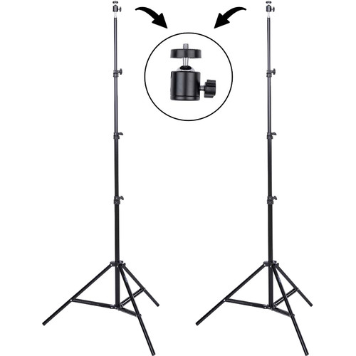 Studio Essentials 7.5' Value 2-Stand Set with Ball Heads and Bag