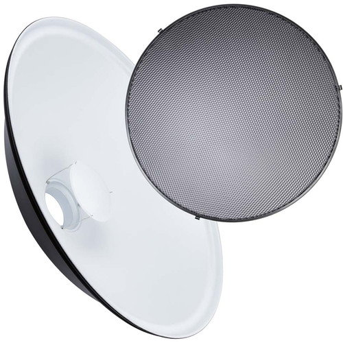 """Studio Essentials White Beauty Dish with Grid (28"""")"""