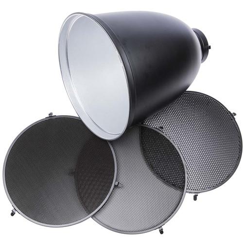 Studio Essentials 45-Degree Zoom Reflector with 3-Grid Bundle