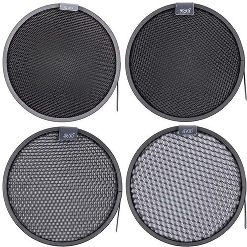 "Studio Essentials 4-Honeycomb Grid Bundle for 7"" Reflector"