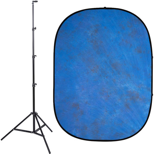Studio Essentials Pop-Up Background Kit (5 x 6.5', Blue)