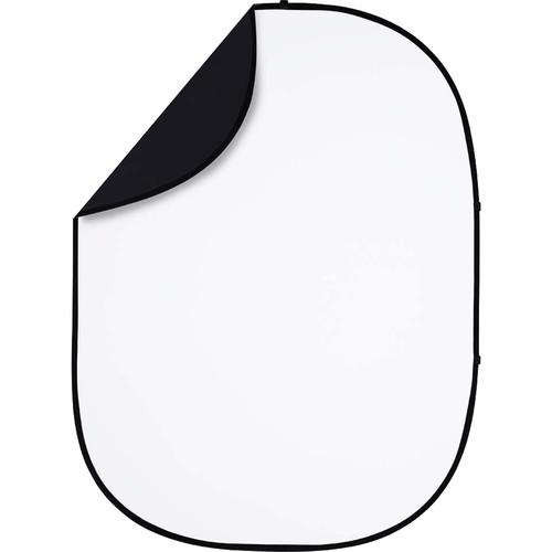Studio Essentials Pop-Up Reversible Background (5 x 6.5', Black/White)