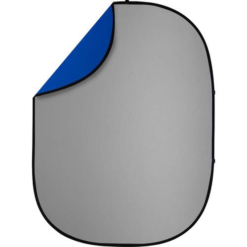 Studio Essentials Pop-Up ReversibleBackground (5 x 6.5', Gray/Blue)