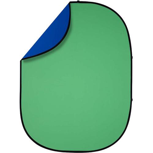 Studio Essentials Pop-Up Reversible Background (5 x 6.5', Chroma Green/Blue)