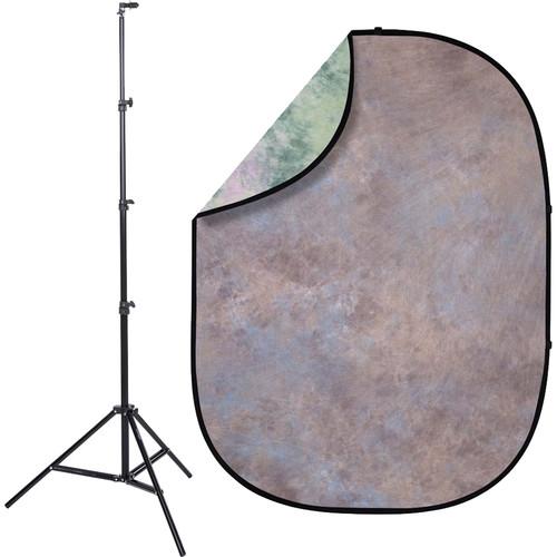 Studio Essentials Pop-Up ReversibleBackground Kit (5 x 6.5', Through the Forest)