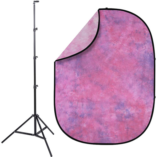 Studio Essentials Pop-Up Reversible Background Kit (5 x 6.5', Summer Dawn)