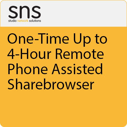 Studio Network Solutions One-Time Up To 4 Hour Remote/Phone Assisted Sharebrowser