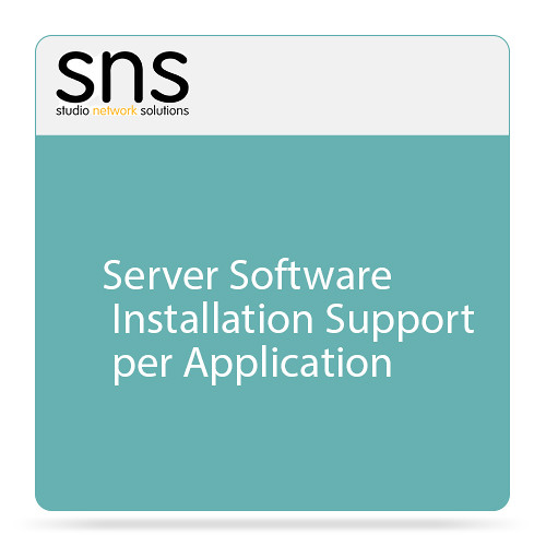 Studio Network Solutions Server Software Installation Support per Application