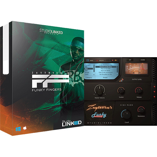 StudioLinked Zaytoven Funky Fingers - Rompler Virtual Instrument Plug-In (Download)