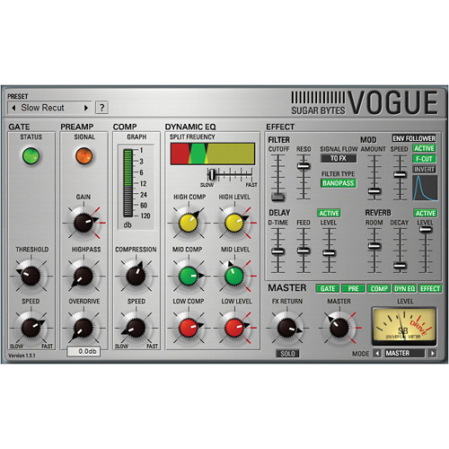 Sugar Bytes Vogue: Virtual Channel Strip Plug-In (Native)