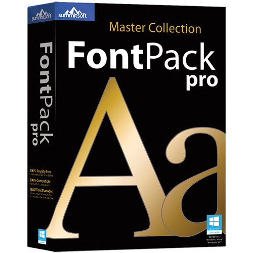 Summitsoft FontPack Pro Master Collection 2015 for PC (12-User, Download)
