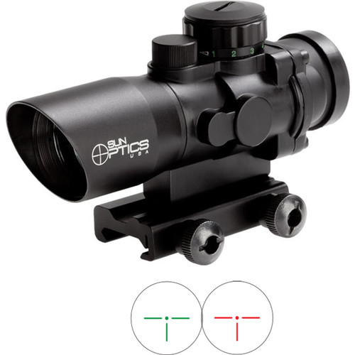 Sun Optics 1x36 Tactical Sight (Red/Green T3 IR Reticle)