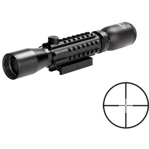 Sun Optics 3-9x32 Tri-Rail Tactical Riflescope ( Mil-Dot Reticle, Matte Black)