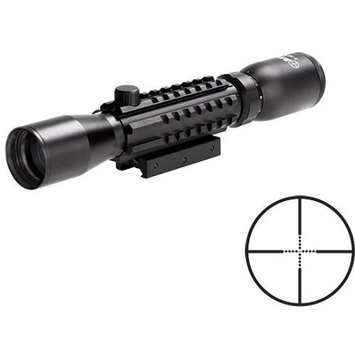 Sun Optics 3-9x32 Tri-Rail Tactical Riflescope ( Mil-Dot Reticle, Matte Black)