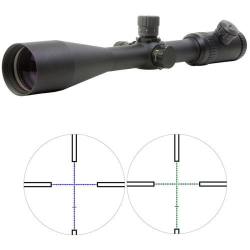 Sun optics 6-25x50 Hunter Plus II Predator Riflescope (Green-Blue Mil-Hash Illuminated Reticle, Matte Black)