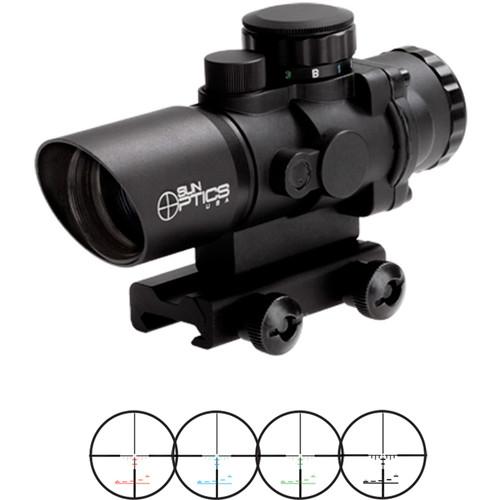 Sun Optics 3x32 Tactical Precision Prismatic Riflescope (Mil-Type Illuminated Reticle, Matte Black)