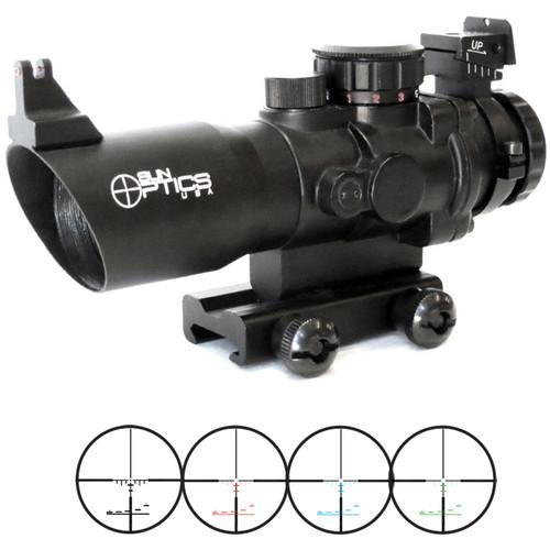 Sun Optics 4x32 Tactical Precision Prismatic Riflescope (Mil-Type Illuminated Reticle, Matte Black)