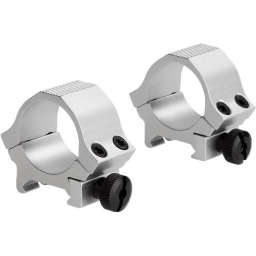 "Sun Optics Standard Sport Aluminum Riflescope Rings (1"", Low, Stainless)"