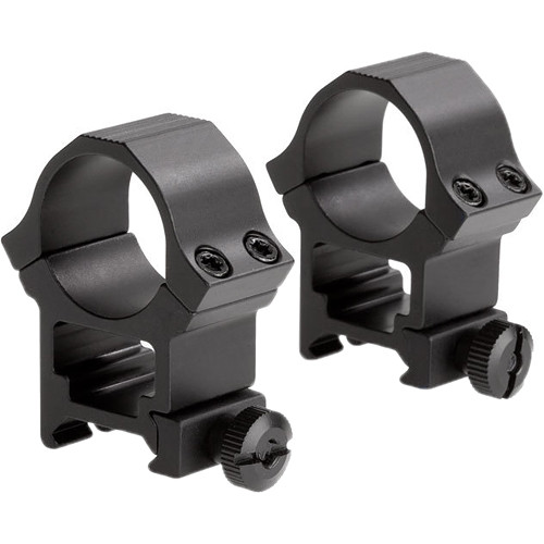 """Sun Optics Standard Sport Aluminum Riflescope Rings (1"""", High, Black Matte)"""