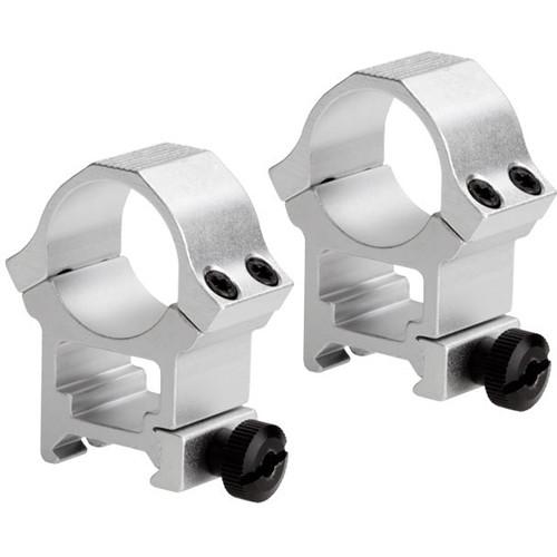 """Sun Optics Standard Sport Aluminum Riflescope Rings (1"""", High, Stainless)"""