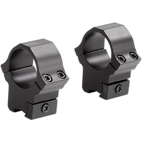 """Sun Optics 22 Type Medium Aluminum Riflescope Rings for 3/8""""-11mm Dovetail (1"""", Black)"""