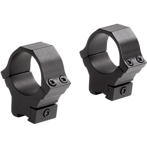 "Sun Optics 22 Type Medium Aluminum Riflescope Rings for 3/8""-11mm Dovetail (30mm, Black)"