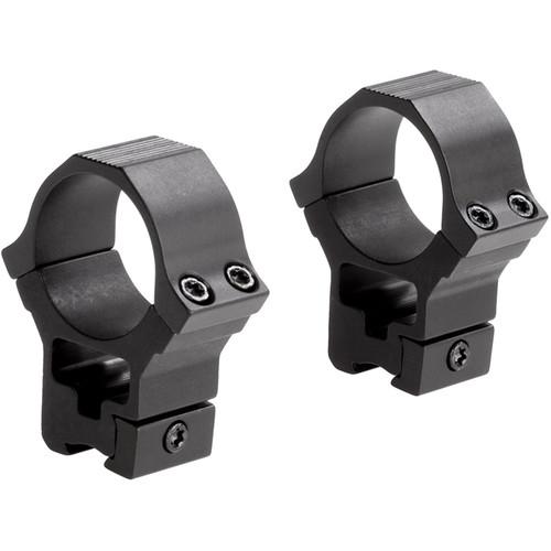 """Sun Optics 22 Type High Aluminum Riflescope Rings for 3/8""""-11mm Dovetail (30mm, Black)"""