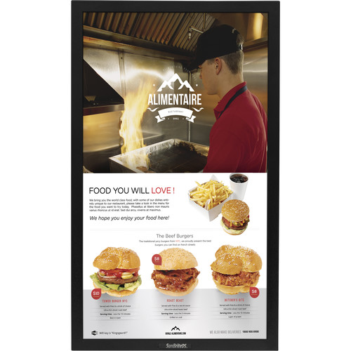 "SunBriteTV Pro Series DS-4217TSP 42"" True-Outdoor All-Weather Touchscreen Portrait Digital Signage (Black)"