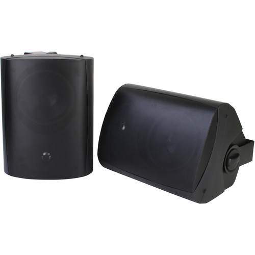 SunBriteTV SB-AW-6 Surface-Mount Outdoor Speakers (Pair, Black)