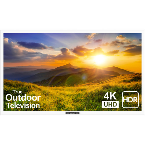 """SunBriteTV 43"""" Signature 2 Series 4K UHD Outdoor LED TV with HDR-Partial Sun (White)"""