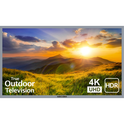 """SunBriteTV 55"""" Signature 2 Series 4K UHD Outdoor LED TV with HDR-Partial Sun (Silver)"""
