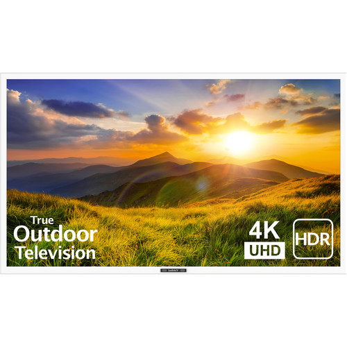 """SunBriteTV 55"""" Signature 2 Series 4K UHD Outdoor LED TV with HDR-Partial Sun (White)"""