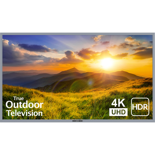 """SunBriteTV 65"""" Signature 2 Series 4K UHD Outdoor LED TV with HDR-Partial Sun (Silver)"""