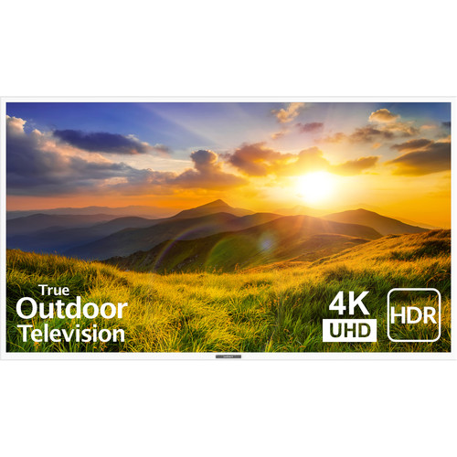 """SunBriteTV 75"""" Signature 2 Series 4K UHD Outdoor LED TV with HDR-Partial Sun (White)"""