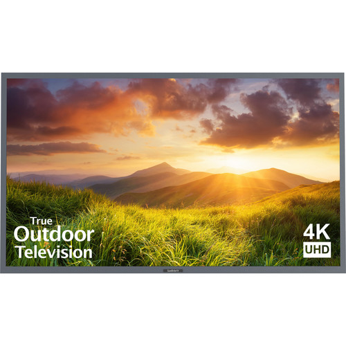"SunBriteTV 75"" Signature Series 4K Ultra HD Partial Sun Outdoor TV (Silver)"