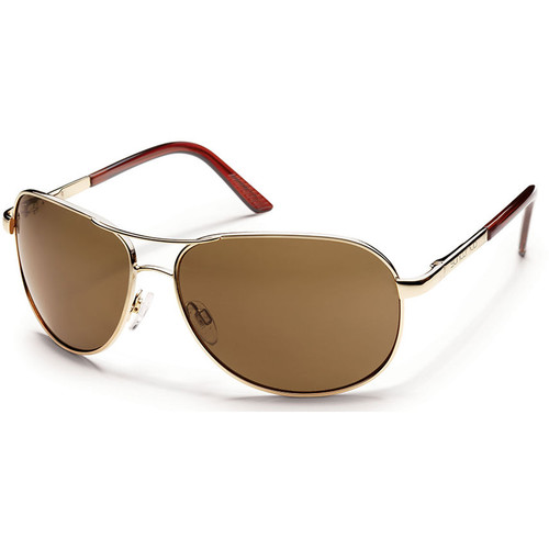 SUNCLOUD OPTICS Aviator Sunglasses (Gold Frames with Polarized Brown Lenses)
