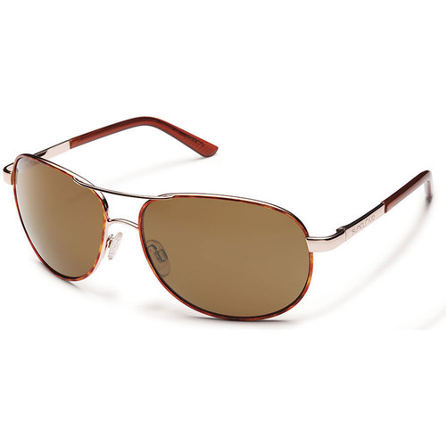 SUNCLOUD OPTICS Aviator Sunglasses (Tortoise Frames with Polarized Brown Lenses)